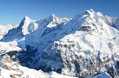 Swiss mountain peaks Stock Images