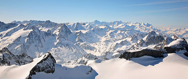 Swiss mountain range Royalty Free Stock Photo