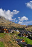 Swiss mountain resort Bettmeralp, Switzerland. Royalty Free Stock Images