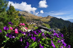 Swiss mountain resort Bettmeralp, Switzerland. Stock Images