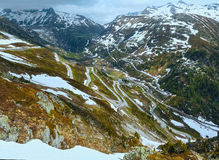 Swiss mountain roads (Grimsel Pass, Switzerland) Stock Images