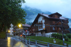 Swiss mountain town Wengen Stock Photography