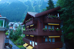 Swiss mountain town Wengen Royalty Free Stock Photography