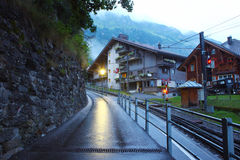 Swiss mountain town Wengen Royalty Free Stock Photos