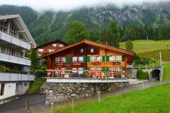 Swiss mountain town Wengen Stock Photos
