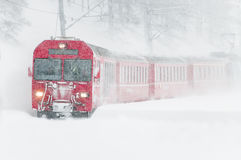 Swiss mountain train Stock Image