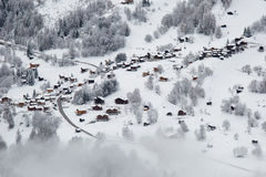 Swiss mountain village Stock Images