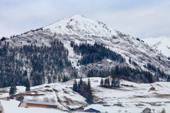 Swiss Mountain Winter Stock Images
