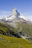Swiss mountains. Panorama view of the Matterhorn - Zermatt, Switzerland Royalty Free Stock Photo