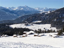 Swiss Mountains Flims. In the skiing area of Flims-Laax, south east part of Switzerland stock image