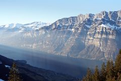 Swiss Mountains Lake Royalty Free Stock Images