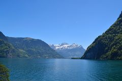 Swiss mountains and lake royalty free stock images