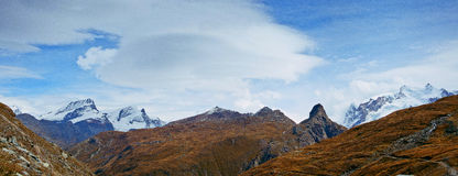 Swiss mountains. Panorama. Swiss mountains. The Alps. Panorama royalty free stock photography