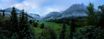 Swiss Mountains Panorama Royalty Free Stock Image