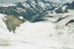 Swiss mountains view Royalty Free Stock Image