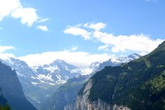 Swiss mountains view Royalty Free Stock Photos