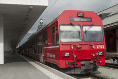 Swiss narrow railway rhb Royalty Free Stock Photography