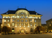 Swiss National bank. The Swiss National bank in Bern Switzerland at night Royalty Free Stock Images
