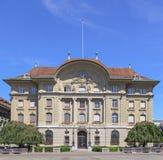 Swiss National Bank Facade Stock Photography