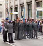 Swiss National Day Parade Participants Stock Image