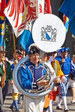 Swiss National Day parade in Zurich Royalty Free Stock Photography