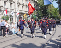Swiss National Day parade in Zurich Royalty Free Stock Images