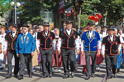 Swiss National Day parade in Zurich Stock Photography