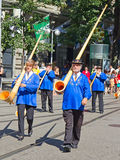 Swiss National Day parade in Zurich Royalty Free Stock Photo