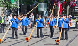 Swiss National Day parade in Zurich Royalty Free Stock Photos