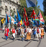 Swiss National Day parade in Zurich Stock Images
