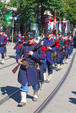 Swiss National Day parade in Zurich Stock Image