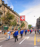Swiss National Day parade in Zurich Royalty Free Stock Image