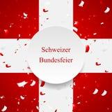 The Swiss National Day, Schweizer Bundesfeier Stock Image