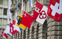 Swiss National Day in Zurich Stock Photos