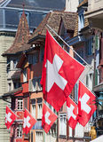 Swiss National Day in Zurich Stock Photo
