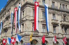 Swiss National Day in Zurich Stock Image