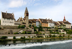 Swiss old town Bremgarten Royalty Free Stock Images
