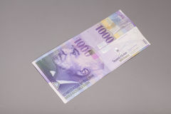 Swiss one thousand  Franc notes Royalty Free Stock Photo