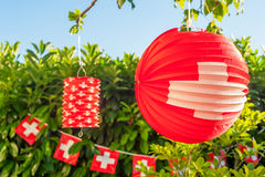 Swiss outdoor decoration Stock Image