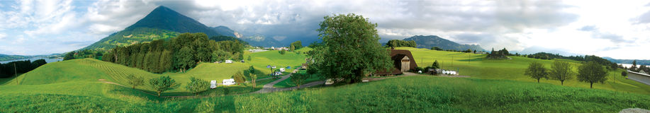 Swiss panoramic stock image