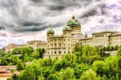 Swiss Parliament In Bern Royalty Free Stock Photos