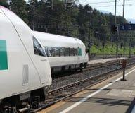 Swiss pendolino trains at Arth-Goldau Royalty Free Stock Photos