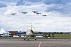 Swiss Pilatus Warbird aerobatic team P3 Flyers aeroplane Royalty Free Stock Images