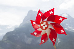 Swiss pinwheel. Stock Photo