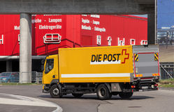 Swiss Post Truck Stock Image