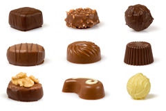 Swiss Pralines on White Stock Images
