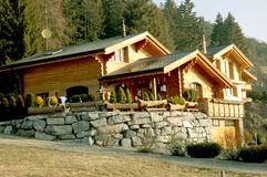 Swiss private house Stock Images