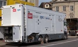 Swiss Radio and Television truck Stock Photo