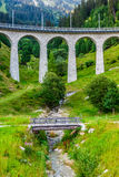 Swiss railway. Switzerland. Royalty Free Stock Images
