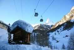 Swiss resort Zermatt stock images